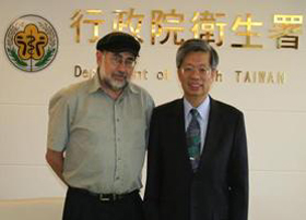 Professor Leibo Visiting Taiwan's National Health Service